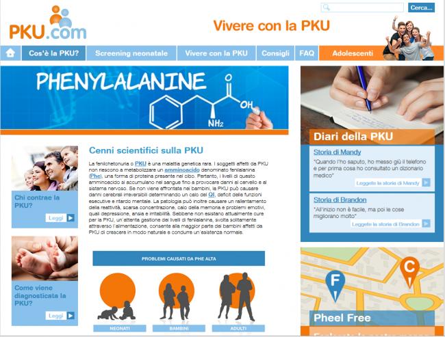 Merck Serono lancia anche in Italia il sito web dedicato ai malati di fenilchetonuria