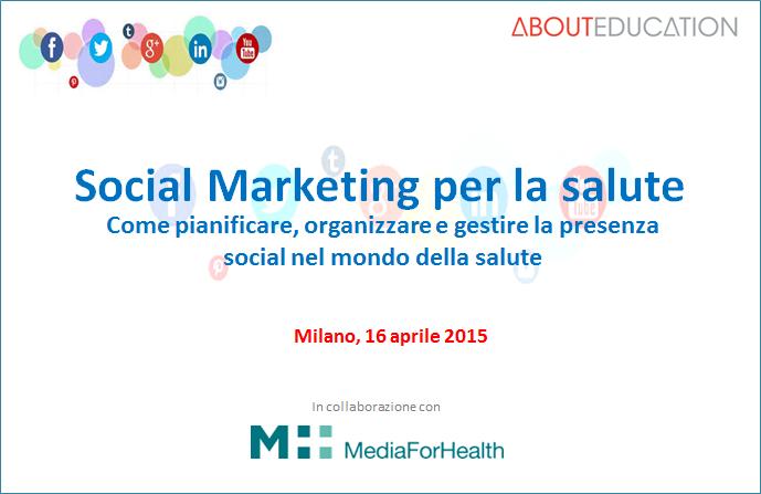 CORSO DI FORMAZIONE<BR>Social Marketing per la salute