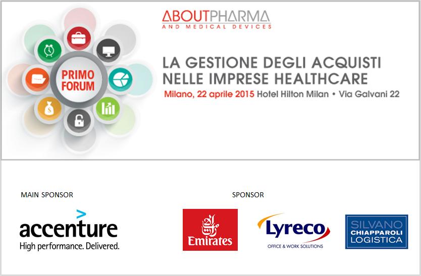 PRIMO FORUM <BR> La gestione degli acquisti nelle imprese healthcare