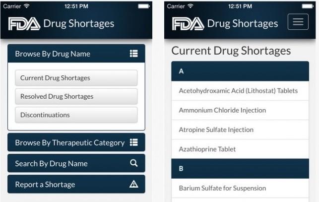 "Usa, arriva la app ""targata Fda"" sulle carenze dei farmaci"