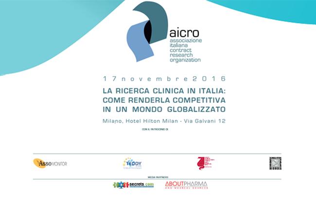 LA RICERCA CLINICA IN ITALIA:<br>COME RENDERLA COMPETITIVA IN UN MONDO GLOBALIZZATO