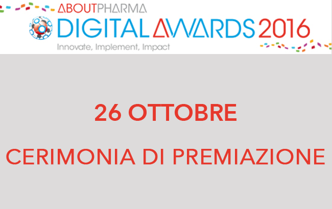 CERIMONIA DI PREMIAZIONE ABOUTPHARMA DIGITAL AWARDS 2016