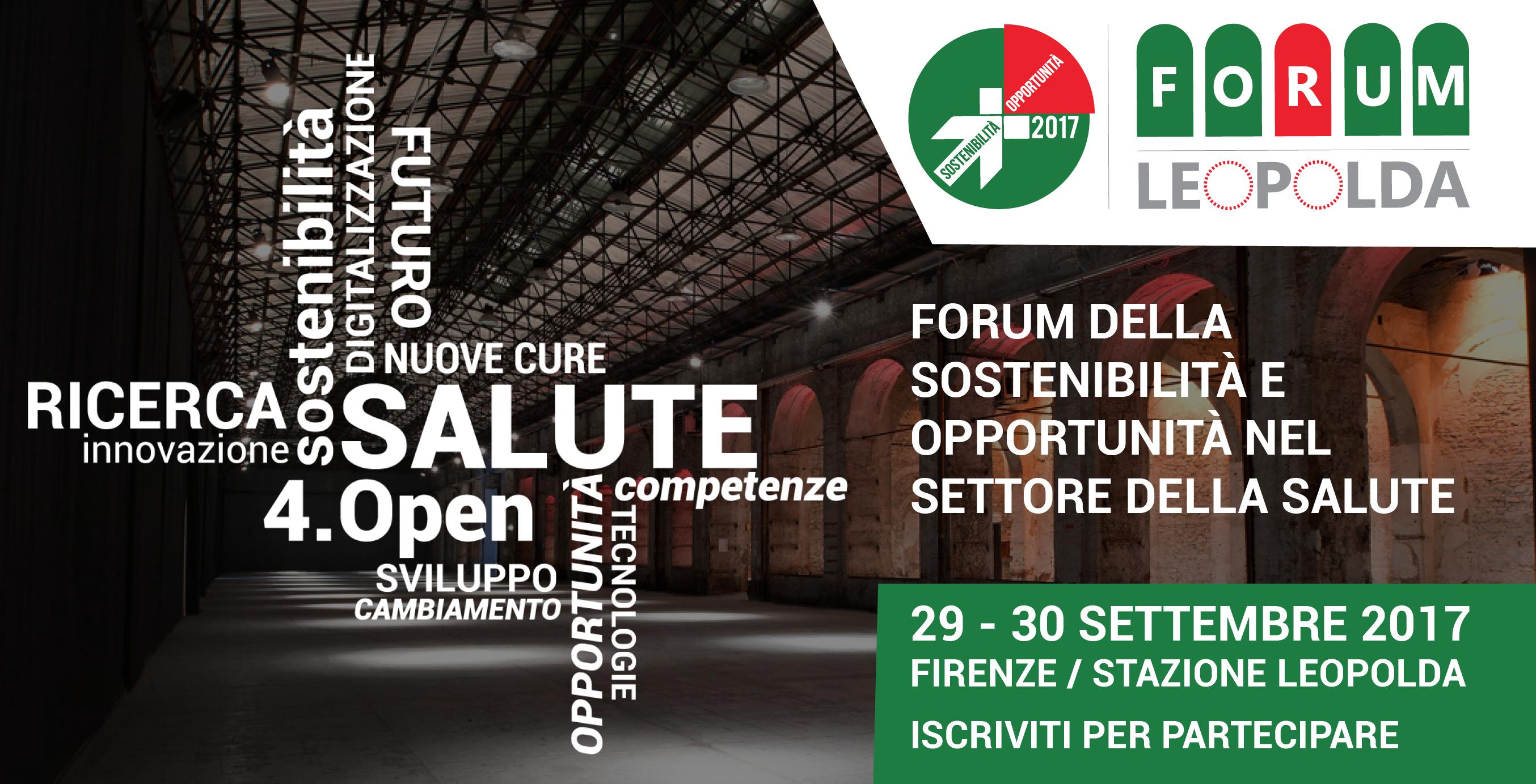 Leopolda 2017: forum della sostenibilità e opportunità nel settore della salute