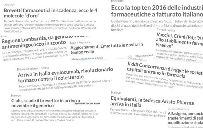 Gli articoli più letti di AboutPharma online nel 2017