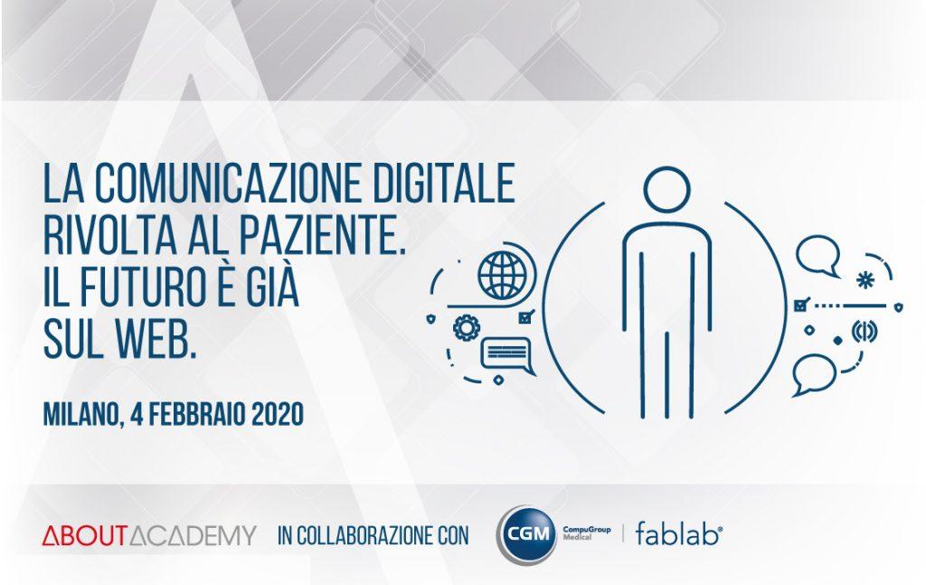 Corso di formazione La comunicazione digitale rivolta al paziente. Il futuro è già sul web