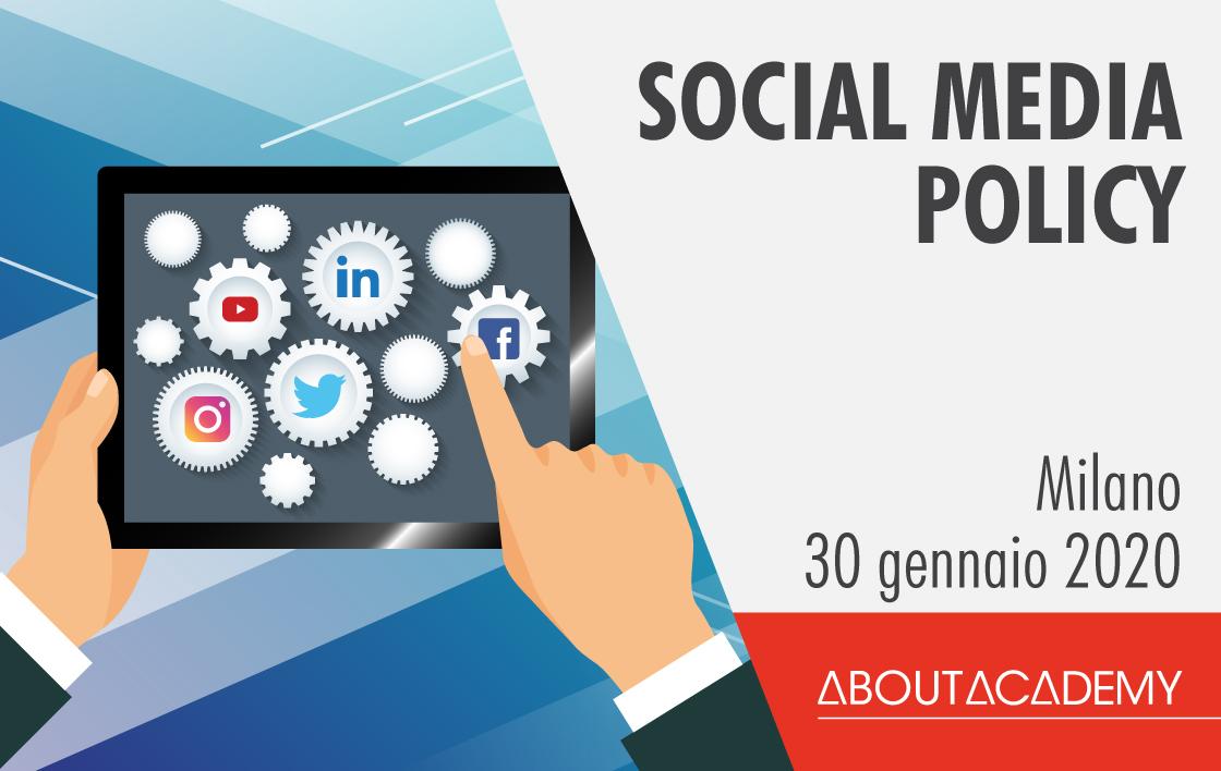 Corso di formazione Social Media Policy