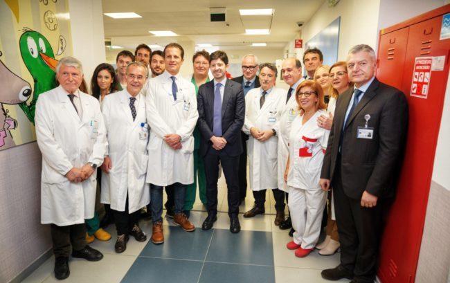 Policlinico Gemelli: Speranza inaugura il reparto di oncologia pediatrica e neurochirurgia infantile