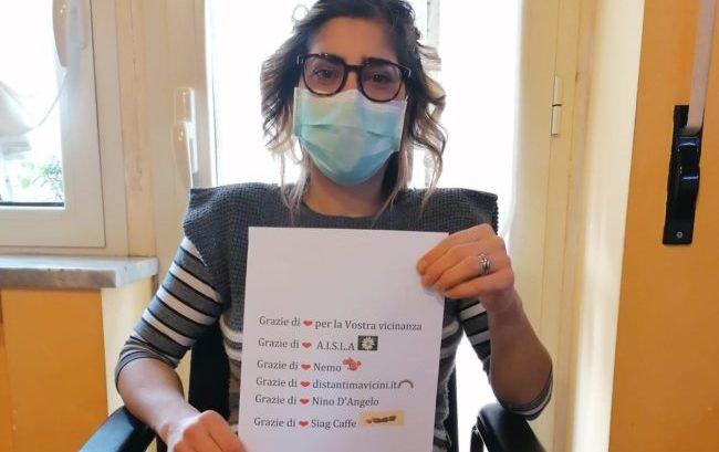 Covid-19, 21mila mascherine donate alle persone con Sla, Sma e distrofie muscolari