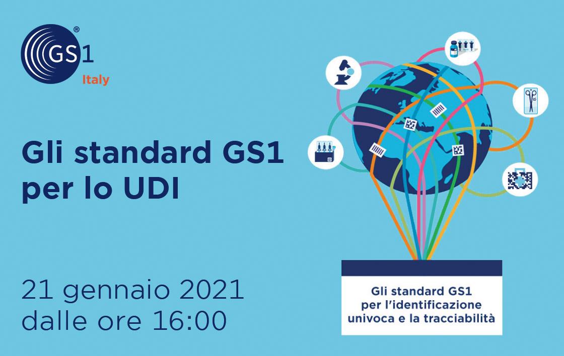Webinar Gli standard GS1 per lo UDI: funzionamento e modalità di erogazione